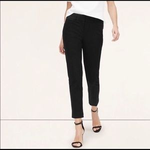 LOFT Marisa Cropped Black Trousers